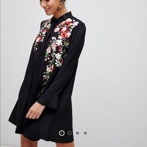 ASOS design embroidered swing dress